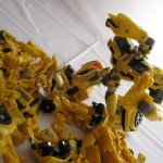 Bumblebee inspects the carnage
