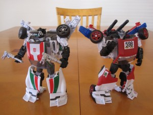 Wheeljack and Marlboor - Robot modes