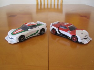 Wheeljack and Marlboor - Sports Car modes