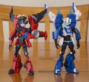 TFA Windblade and Chromia (customs)