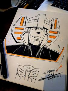 Sunstreaker Sketch by Sarah Stone