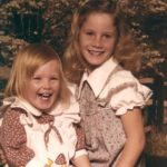 Jessica and Kathleen pose together in this adorable photo. (10/19/1979)