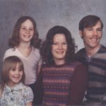The Cole Family: Jessica, Kathleen, Diane and Douglass. (2/1984)