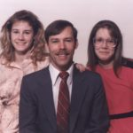 The Cole family: Kathleen, Douglass and Jessica. (6/1989)