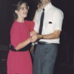 Jessica dances with her daddy. (9/1989)
