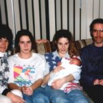 Ashley is surrounded by her mother Kathleen, grandparents Diane Kane and Doug Cole, and Aunt Jessica. (1/30/1993)