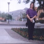 Jessica stands on the campus of her future college, Arizona State University. (12/29/1994)
