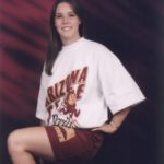 Jessica shows off her Sun Devil pride in this ASU Freshman portrait. (11/17/1995)