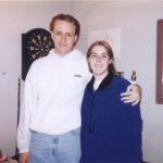 Andrew Green and Jessica Cole stand together just a few days after meeting at Arizona State University. (2/1/1997)