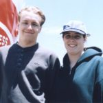 Andrew and Jessica board a San Francisco Bay Cruise. (7/1/1998)