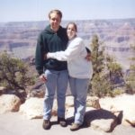 Andrew and Jessica stand at the south rim of the Grand Canyon. (5/11/1999)