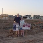 Andrew and Jessica at the plot of their land for their new home in Gilbert, AZ. (6/13/2000).