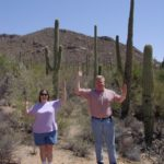 Jessica and Joe pose as cactus in the Arizona desert. (4/4/2003)