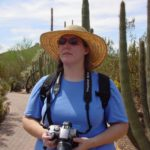 Jessica with camera in hand, ready to take photos in the desert. (8/21/2004)