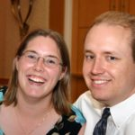 Andrew and Jessica enjoy the wedding of their friends Eric and Jen Doolan. (9/25/2004)