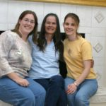 Jessica and Kathleen pose with their mother. (4/2005)