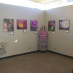 Jessica shows her very first photography exhibit at Boyce Thompson Arboretum in Superior, Arizona. (2/28/2006)