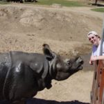 Jessica feeds the rhinos at San Diego Wild Animal Park. (3/12/2007)