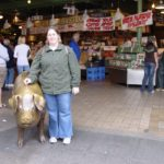 Jessica stands outside the Pike's Place Market in Seattle, WA. (5/20/2007)
