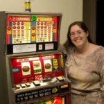 Jessica hits the jackpot on her own slot machine. (2/2008)