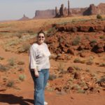 Jessica poses in Monument Valley, AZ. (4/19/2008)