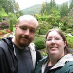 Andrew and Jessica pose in front of Butchart Gardens in Victoria, BC. (6/5/2008)