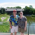 Jessica poses with her father Doug in Frankenmuth, MI. (7/9/2008)