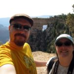 Andrew and Jessica enjoy the views at Grand Canyon North Rim. (8/29/2009)