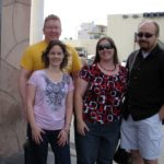 Joe, Kathleen, Jessica and Andrew ham it up at The Gold and Silver Pawn Shop, featured in Pawn Stars on the History Channel. (10/24/2010)