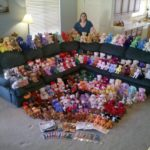 Jessica poses with her Ty Beanie Baby collection. (11/7/2010)