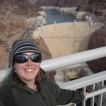 Jessica poses on the bridge of the new Hoover Dam bypass. (12/6/2010)