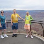 Jessica, Cole, and Rachel pose at the end of the Grand Canyon. (6/16/2011)