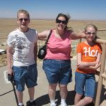 Cole, Jessica, and Rachel pose at Meteor Crater in Arizona. (6/16/2011)