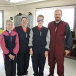 Rachel, Jessica, Cole, and Andrew all prepare to do some indoor skydiving. (6/20/2011)