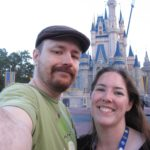 Andrew and Jessica pose in front of Cinderella's castle at the Magic Kingdom, Walt Disney World. (1/29/2012)