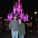 Andrew and Jessica pose in front of Cinderella's castle at the Magic Kingdom, Walt Disney World. (2/4/2012)