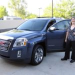 Jessica posing near her brand new, custom ordered GMC Terrain that she called Perry. (8/22/2012)
