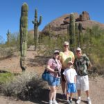 Jessica and the Cole family visiting the Desert Botanical Garden in Phoenix, AZ. (10/20/2012)
