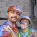 Andrew and Jessica got messy and wet during the Color Run 2013 in Tempe, AZ. (1/26/2013)