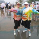Jessica and her sister Amy got messy and wet during the Color Run 2013 in Tempe, AZ. (1/26/2013)