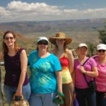 Jessica poses with friends while on a weekend trip in Sedona, Arizona. L to R: Deb Adams, Jessica Green, Lily Hamil, Janina Caron and Denise Fecci. (9/11/2014)