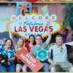Jessica and the Schaars pose for a funny photo in Las Vegas, NV. (5/31/2015)