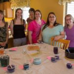 Jessica poses with friends during a candle making party she held at her house in Gilbert, AZ. (5/2/2015)