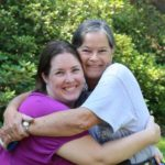 Jessica and her mother Diane embrace for a photo at Dow Gardens. (7/24/2015)