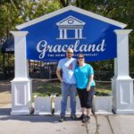 Andrew and Jessica pose in front of the sign for Graceland in Memphis, TN. (10/21/2015)