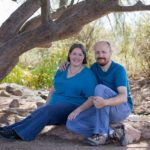 Jessica and Andrew pose for a portrait session at the Riparian Preserve in Gilbert, AZ. (11/22/2015)