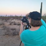 Jessica taking photos of supermoon in San Tan Mountain Regional park. (11/13/2016)