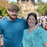 Andrew and Jessica pose at the front of Animal Kingdom, Walt Disney World. (12/14/2016)