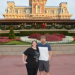 Jessica and Andrew pose at the entrance to the Magic Kingdom, Walt Disney World. (12/19/2016)