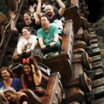 Jessica, Andrew, Amy, and Mason ride Seven Dwarfs Mine Train at the Magic Kingdom, Walt Disney World. (12/19/2016)